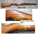 SVT-40 Rifle Stock - with Cracks
