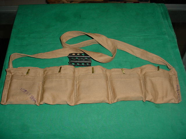 Bandolier , British Cloth with 10 Loading Clips