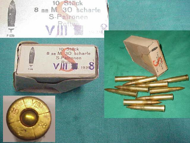 Ammunition 10rd Box, , 8X56R M95/34 Steyr Carbine