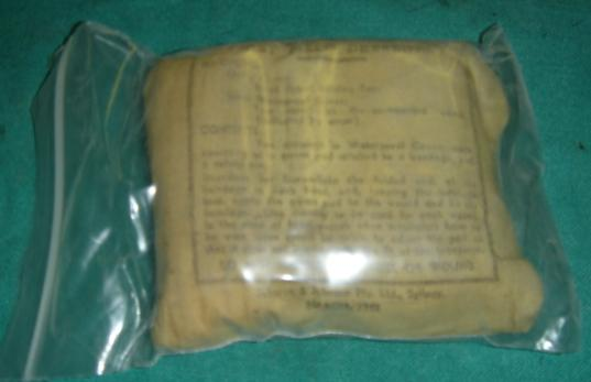 Bandage Wound Small Size WWII Dated