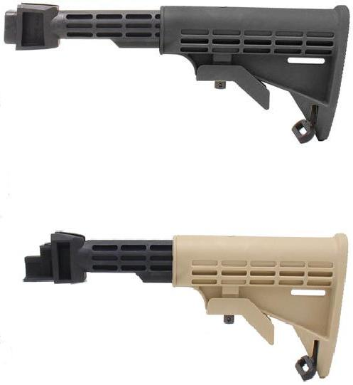 AK T6 Collapsible Stock - TAPCO - Black,