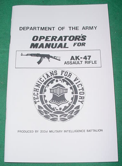 Booklet AK-47 Assault Rifle, Dept of Army - Click Image to Close