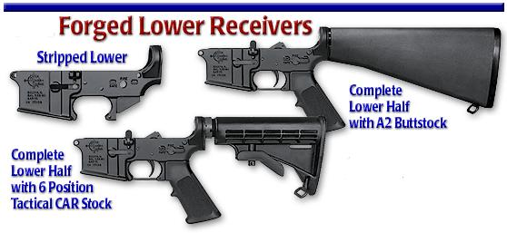 AR-15 Lower Receivers & Parts