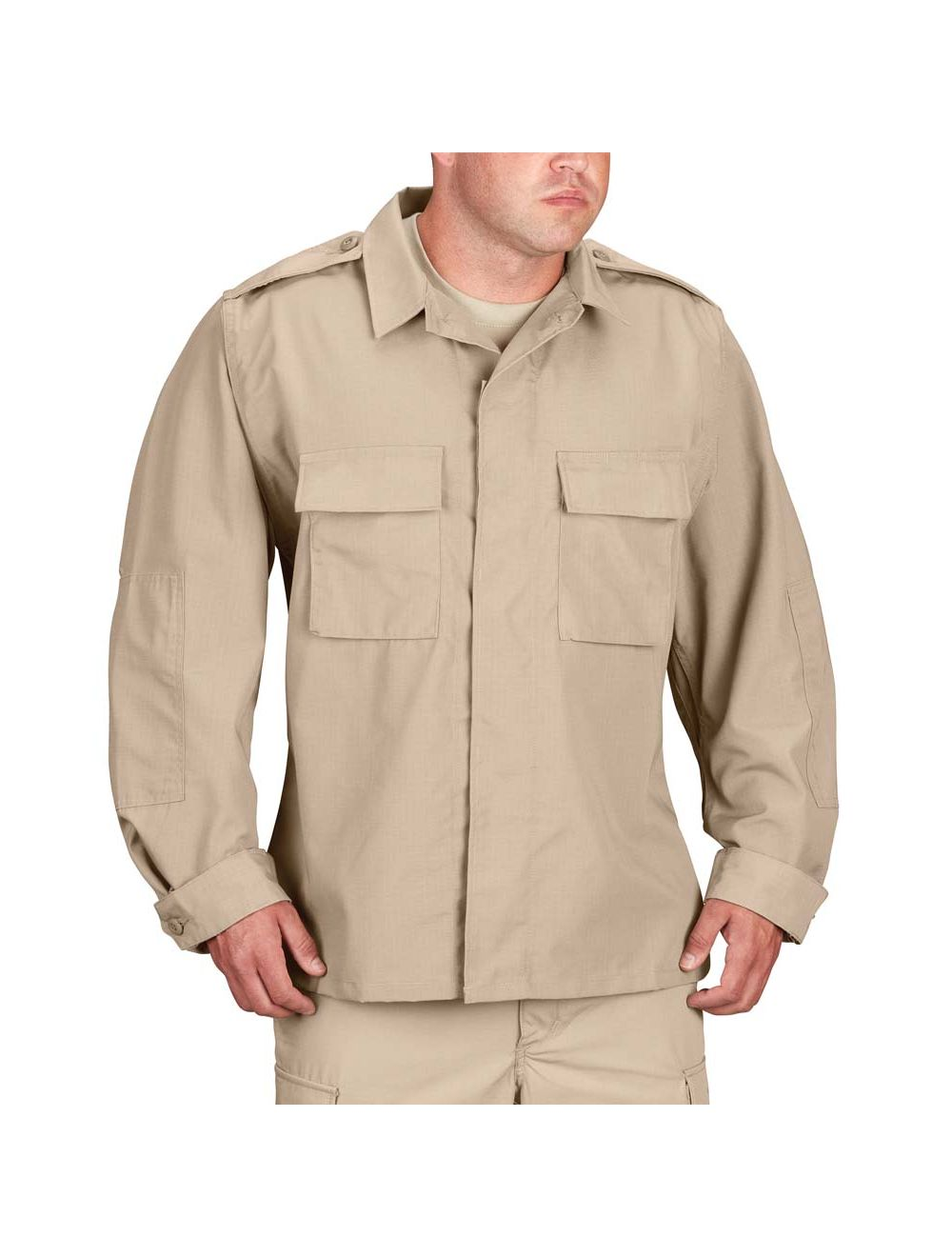 PROPPER KHAKI BDU SHIRTS SURPLUS SMALL/R