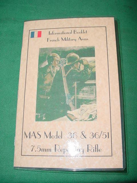 Booklet, French MAS 36 & 36/51 7.5mm Rifles 36 pgs