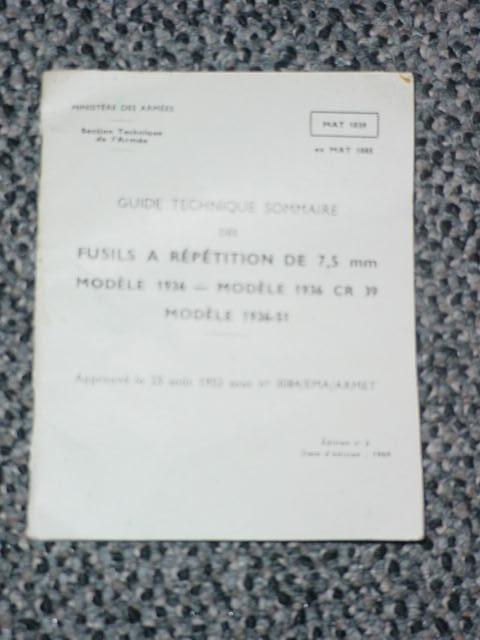 Booklet French MAS 36 and MAS 36/51 Original