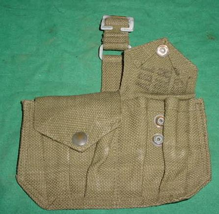 Ammo Pouch British 2 Pocket OD 1952 Dated Excellent