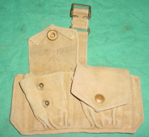 Ammo Pouch British 2 Pocket TAN 1939 Dated USED
