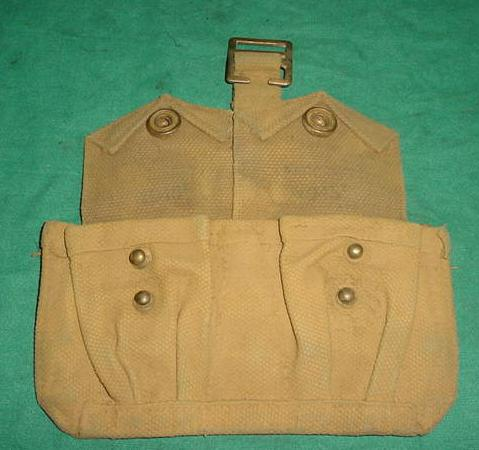 Ammo Pouch British 2 Pocket TAN UNDATED USED