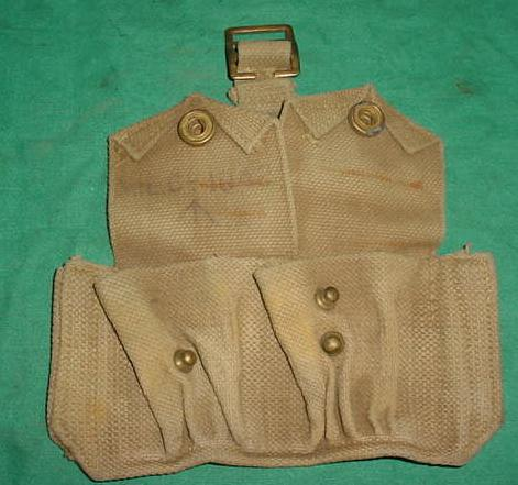 Ammo Pouch British 2 Pocket TAN WWII Dated USED