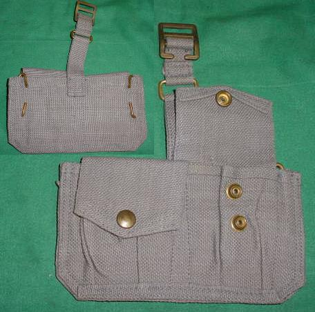 Ammo Pouch British 2 Pocket Gray USED UNDATED