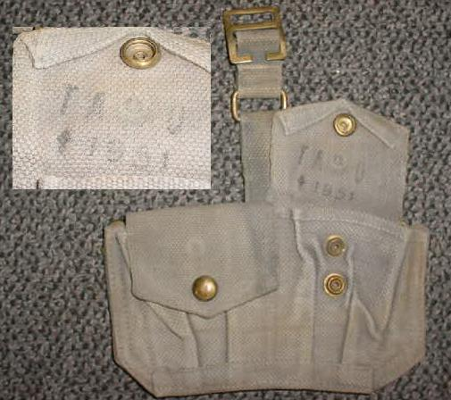 Ammo Pouch British 2 Pocket Gray USED Dated 1951