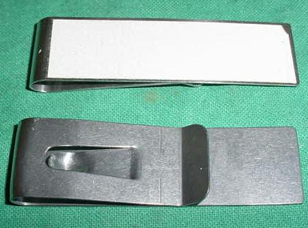 Metal Clip With Reflector, Sweden Military Surplus