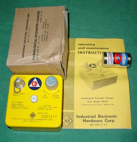 Civil Defense Radiological Dosimeter Charger CD V-750