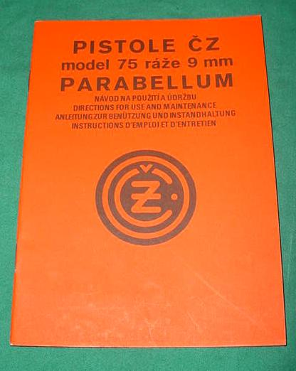 CZ 75 Czech Pistol Manual - Multi Language