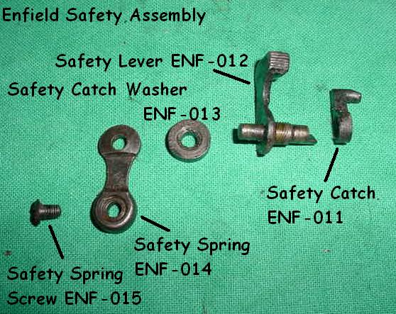 Safety Spring, Lee Enfield No 1 Mk III .303 Rifle - Part # 014