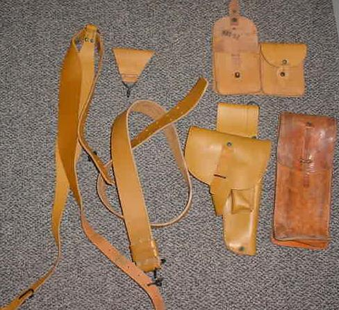 French MAB Holster and Belt Set