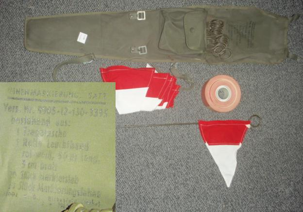 German Mine Marking Set