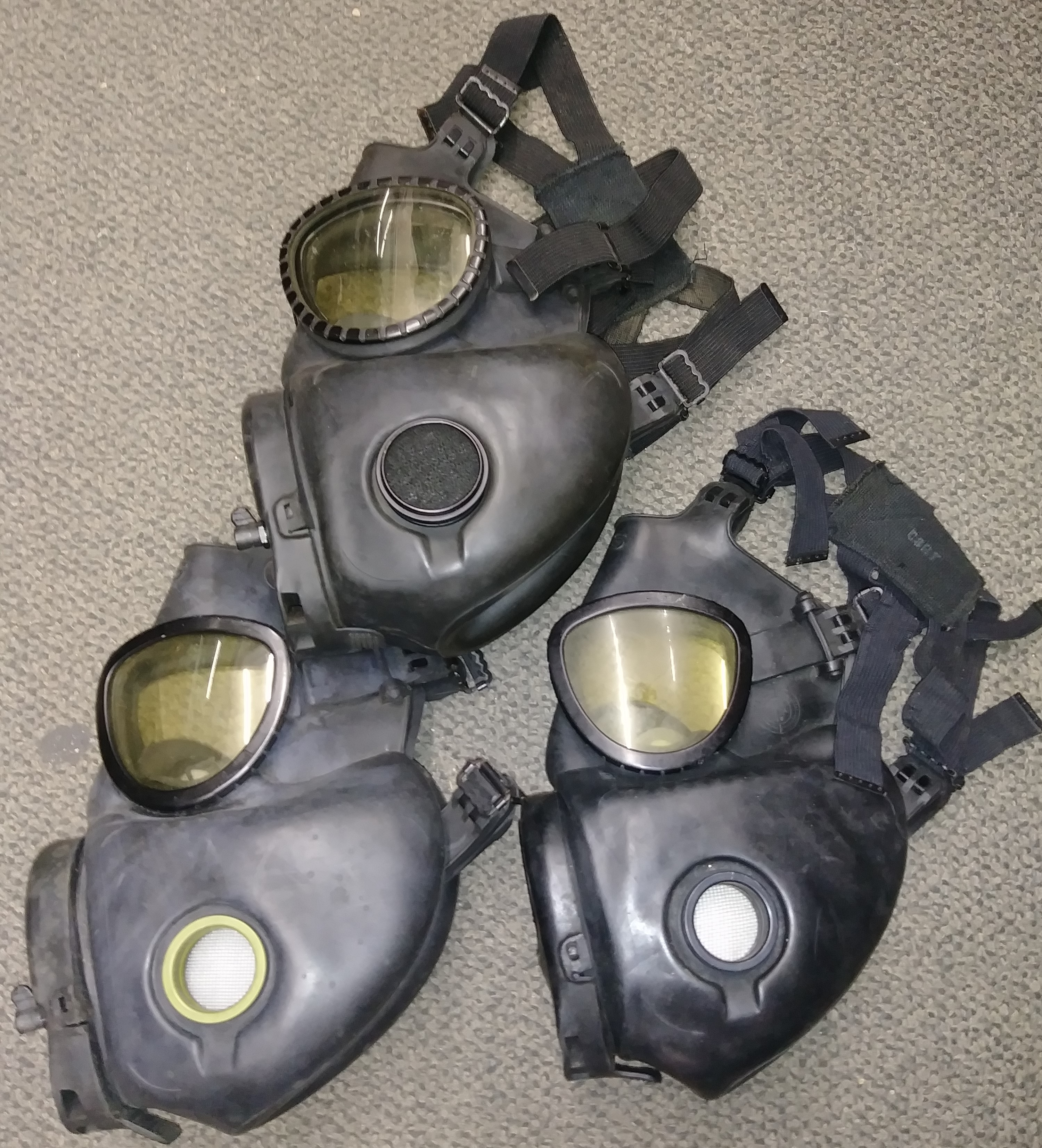 SURPLUS M17 GAS MASKS QTY 3