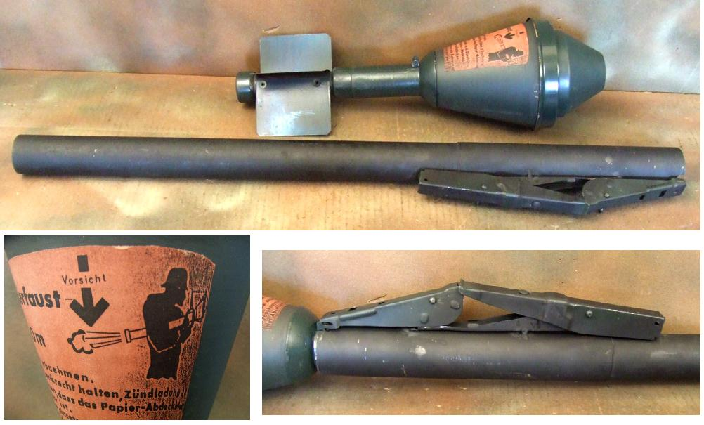 German WWII Panzerfaust 60M Rocket with Launcher REPRO