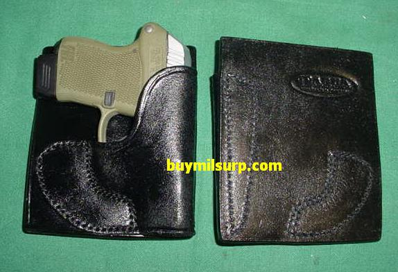 Holster KELTEC P32 / P3AT Leather Pocket Holster BLACK