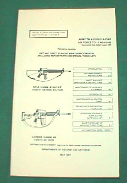 M16A2 & M4 US Military Technical Manual TM9-1005-319-23&P