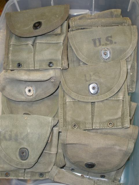 Pouch M1 Carbine USED QTY 1, Holds 2 15rd Magazines