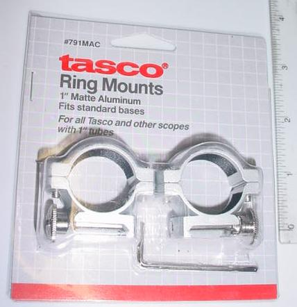 "1"" - 3/8 Dovetail Base Silver Medium Profile Scope Rings"