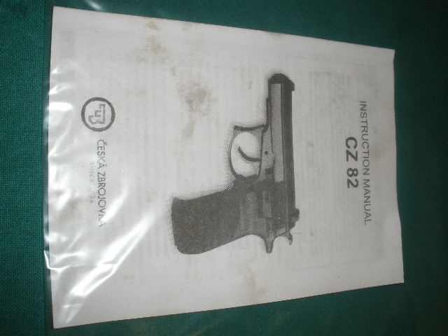 CZ-82 Pistol Instruction Manual