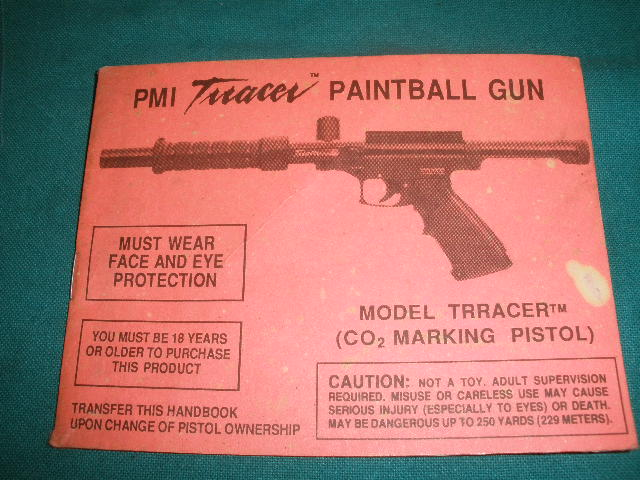 PMI Tracer Paintball Gun Manual