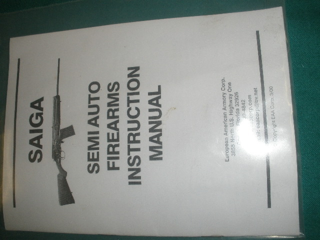 Saiga Semiauto Firearms Manual
