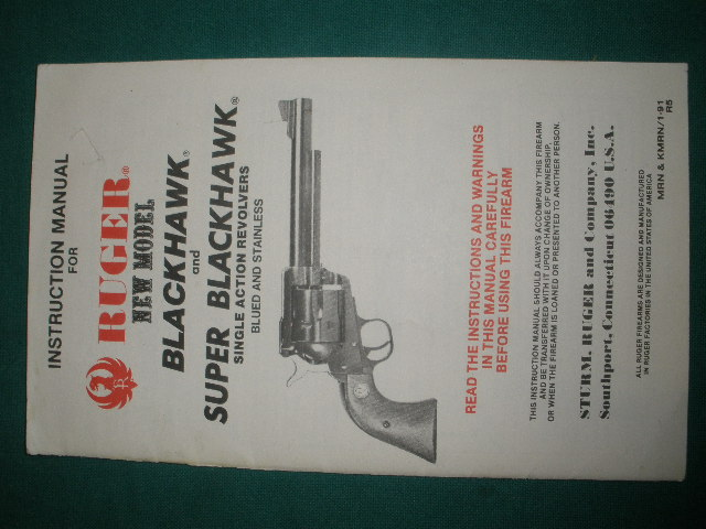 Ruger Super Blackhawk & Blackhawk Manual