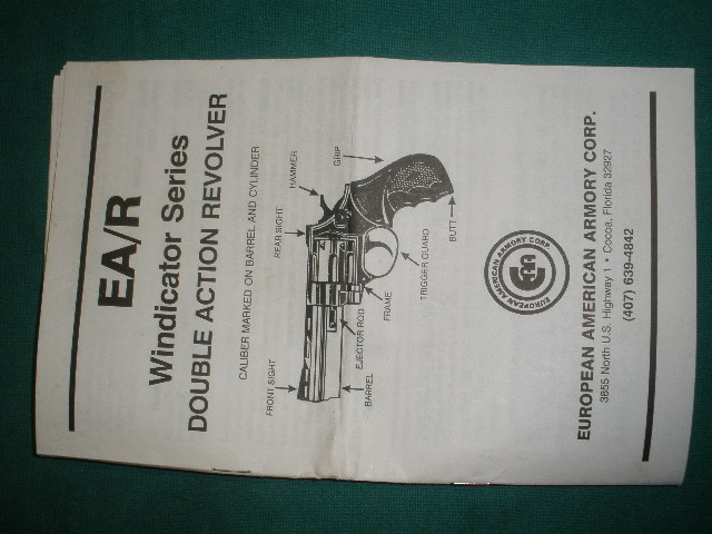 EA/R Windicator DA Revolver Manual