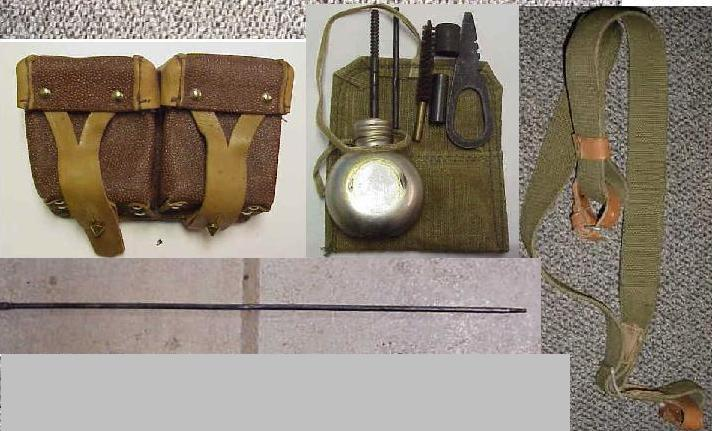 Ammo Pouch & Cleaning Kit Combo, Mosin Nagant - Click Image to Close