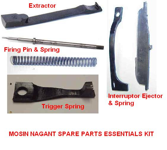 Spare Parts Essentials Kit for ALL Mosin Nagant Rifles