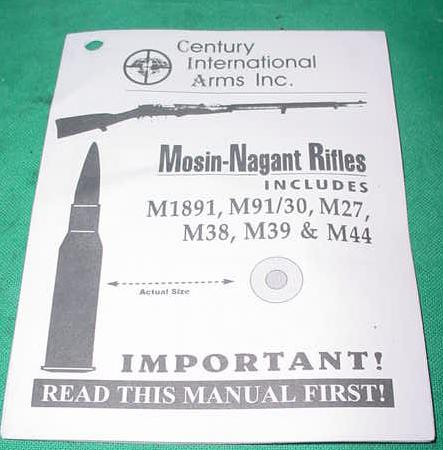 Pamphlet, Basic Maintenance, History & Operation Mosin Nagant