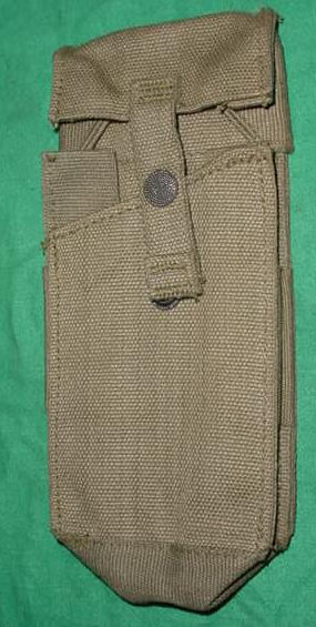 Pouch, OD Canvas , Holds TWO L1A1 Magazines