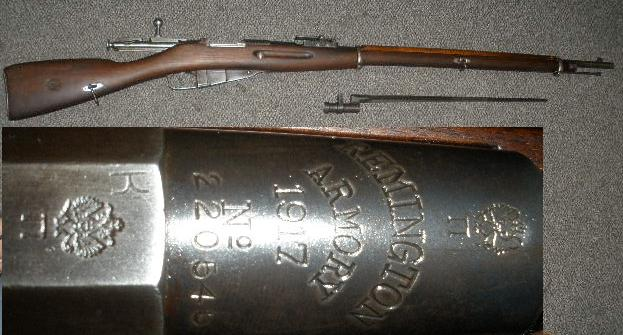 Remington M1891 Mosin Nagant 1917 SA Marked w/ Bayo