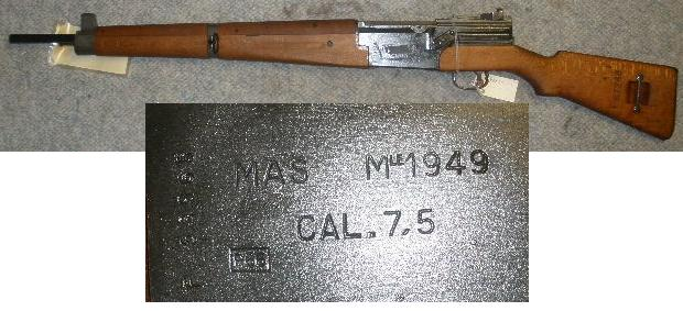 French MAS-49 7.5 Caliber Rifle