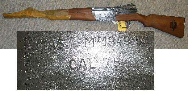 French MAS 49/56 Rifle Caliber 7.5 French