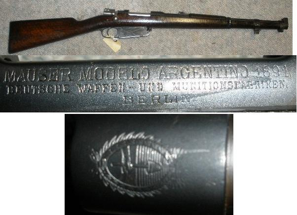Argentina M1891 7.65 Bolt Action Carbine