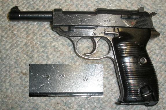 German P38 cvq Pistol No Import Mark EXC