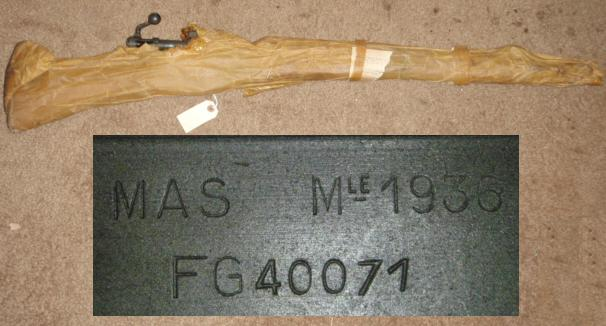 French MAS 36 Rifle in Wrap UNISSUED