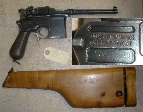 German Mauser C96 -Broomhandle- with Stock SA Marked