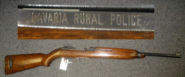 US M1 Carbine .30 Cal Rifle Winchester - Bavarian Rural Police