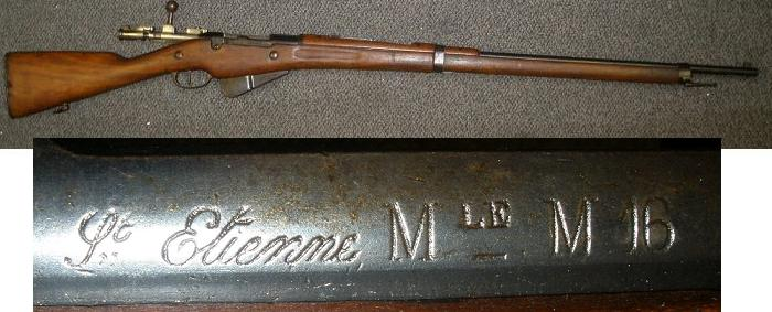 French M1916 Berthier Rifle 8mm St Ettienne