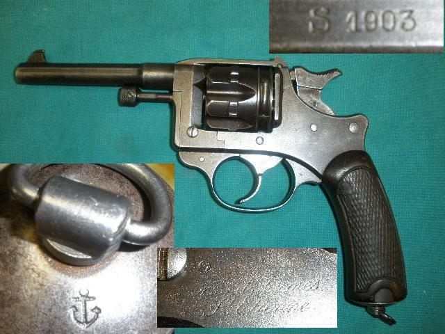 French M1892 Revolver St Etienne 1903 Navy Marked
