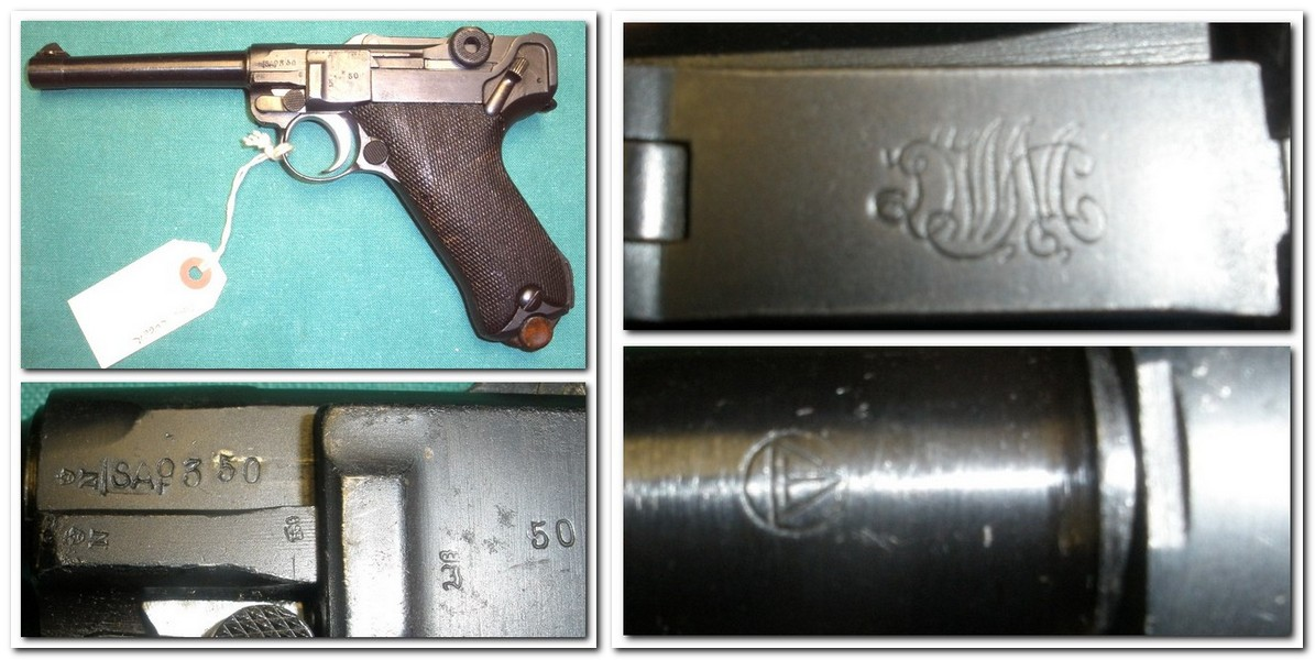 Finnish M/23 Luger Tikka Barrel SA Marked DWM