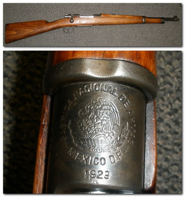 Mexican 1910? Mauser Carbine 1929 7x57 - Click Image to Close