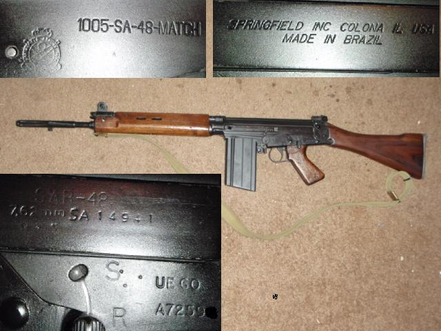 British L1A1 Furniture on Springfield SAR 48 Match